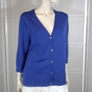 Land's End blue cardigan XL
